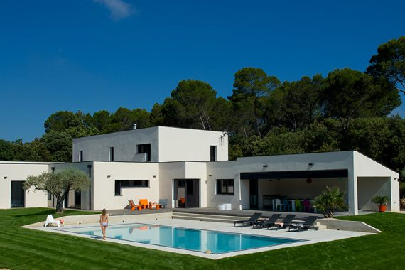 constructeur maison contemporaine : mas provence, constructeur de ... - Photo De Maison Contemporaine
