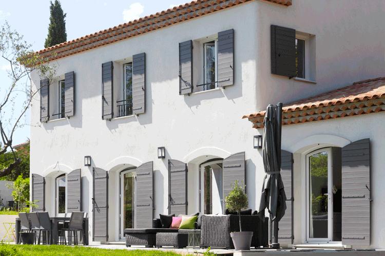 la tradition bien actuelle mas provence constructeur maisons individuelles. Black Bedroom Furniture Sets. Home Design Ideas