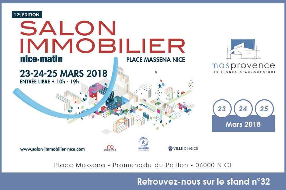 Salon de l 39 immobilier de nice mas provence for Salon de immobilier